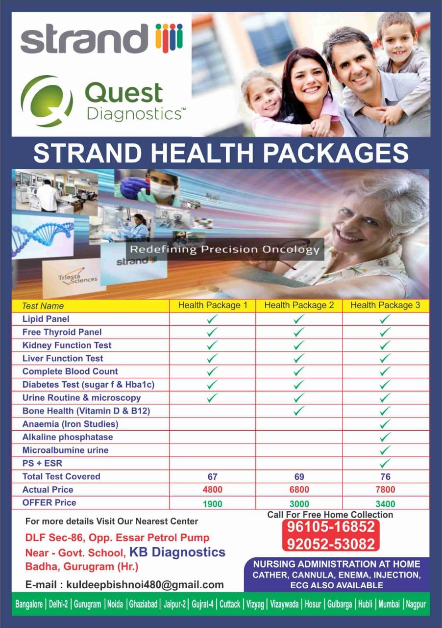 KB Diagnostic Center Strand Health Package1