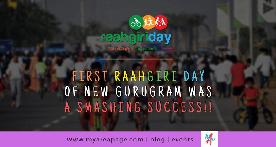 First Raahgiri celebrated in New Gurugram (Gurgaon) banner