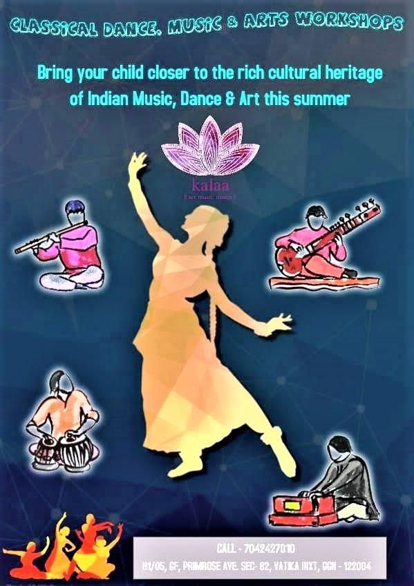 Brochure for Kalaa Art Music Dance