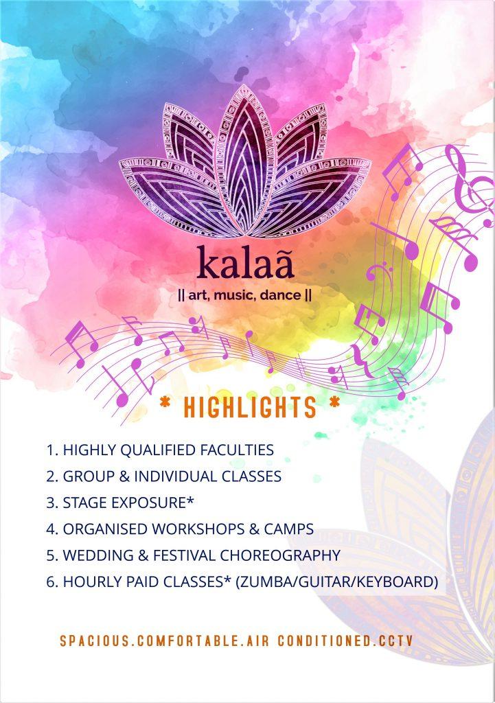 Kalaa Art Music Dance Brochure Page 2