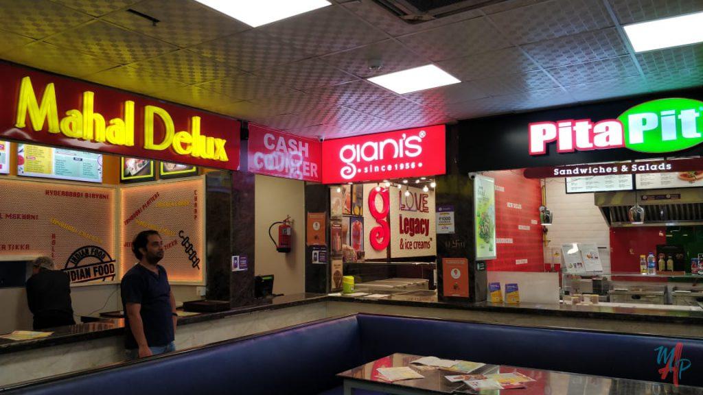 moti mahal, gianis ice cream and pita pit at indulgence food court