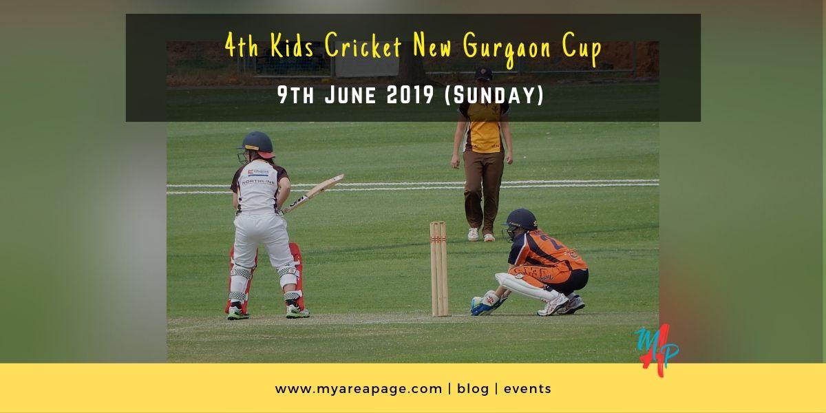 4th Kids Cricket New Gurugram (Gurgaon) Cup banner