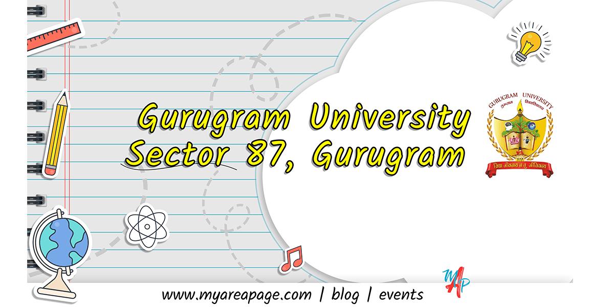 Gurugram University located at Sector 87, Gurugram banner