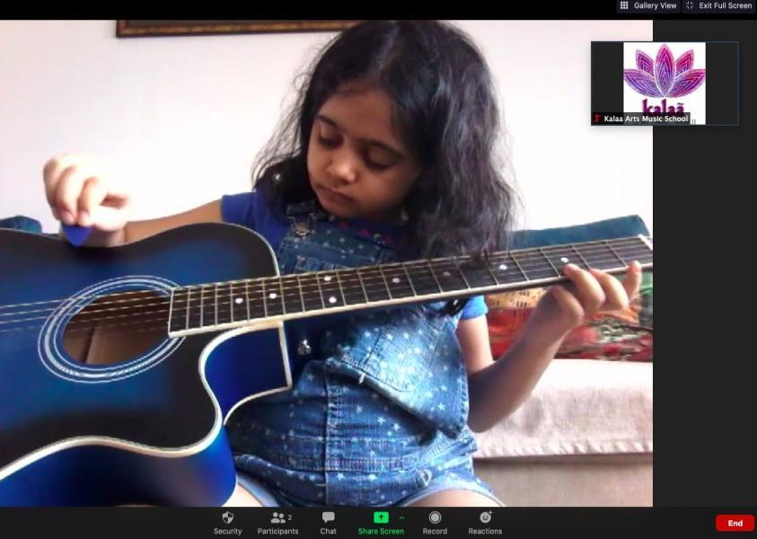 Kalaa guitar class for kids