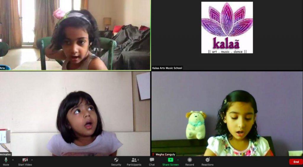 Kids feeling relaxed