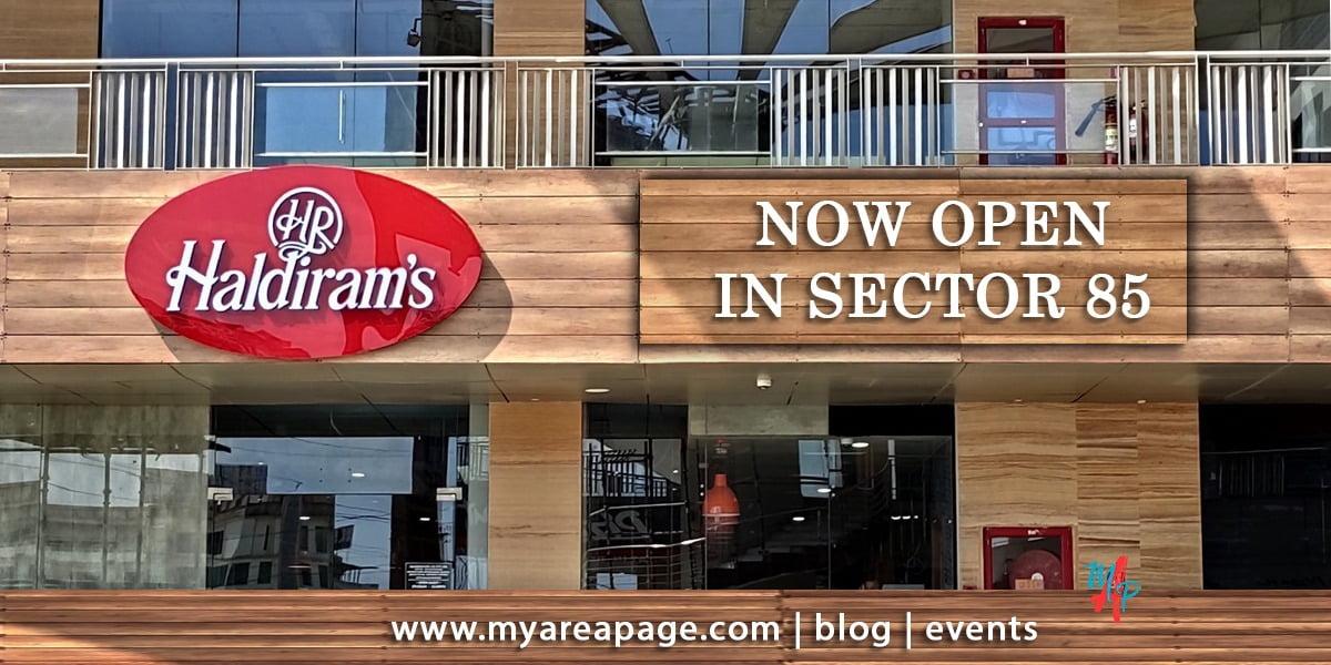 Haldiram IRIS Broadway opens in Sector 85, Gurugram banner
