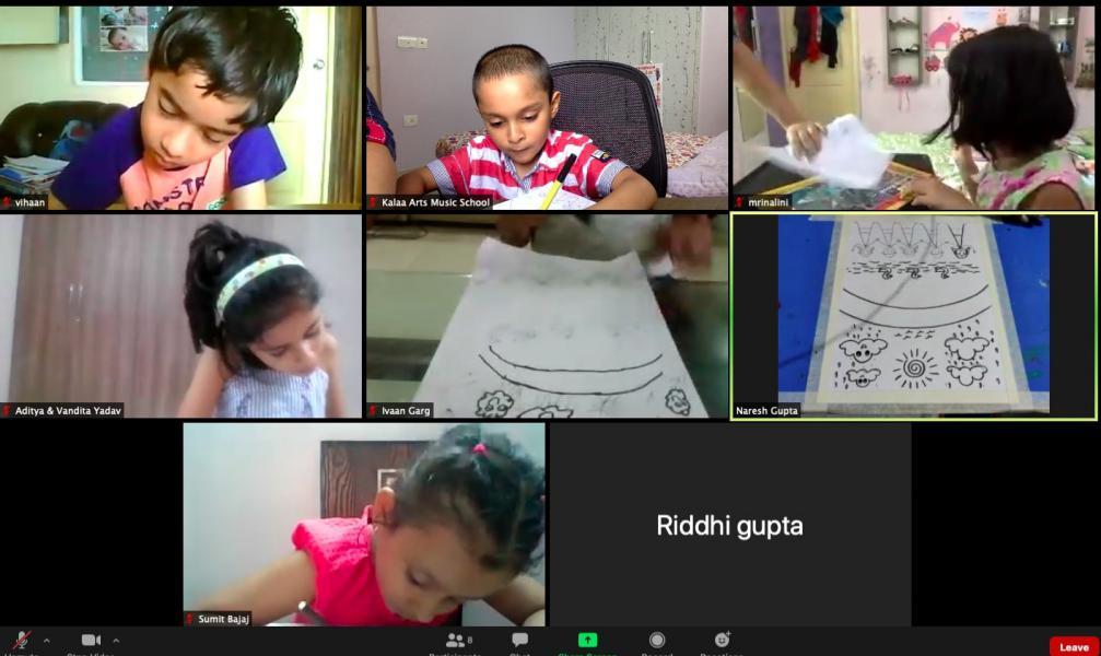 Learning art at Kalaa's online class