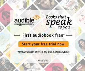 Amazon Audible ad banner