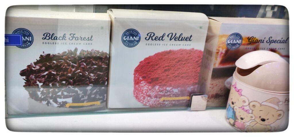 Different flavors of Ice Cream