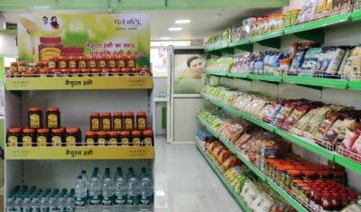 Shelves at Patanjali Chikitsalay Sapphire Ninety