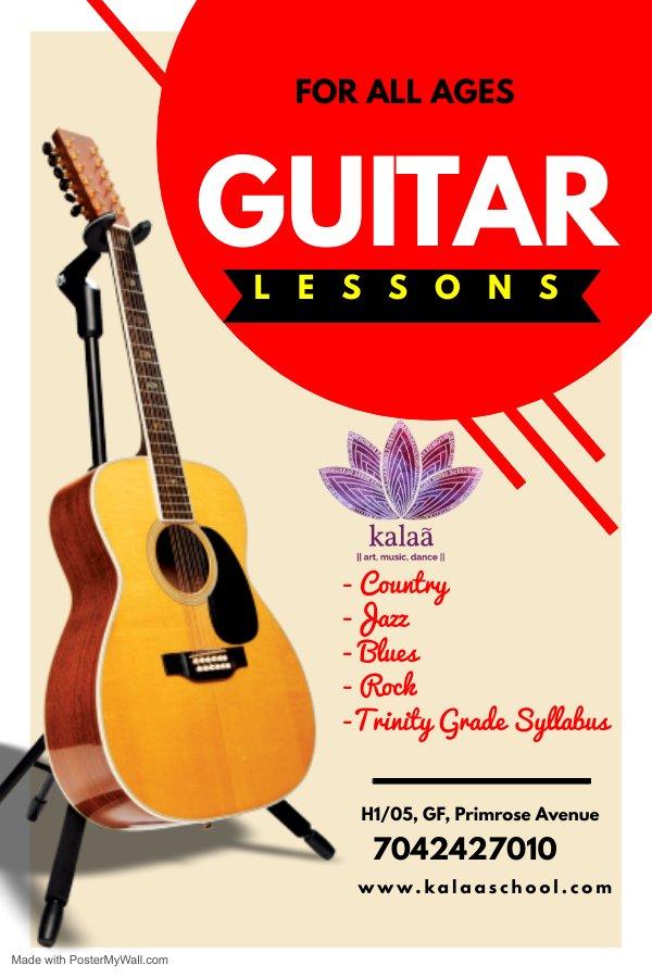 Guitar classes at Kalaa art music dance sector 82 vatika Gurugram