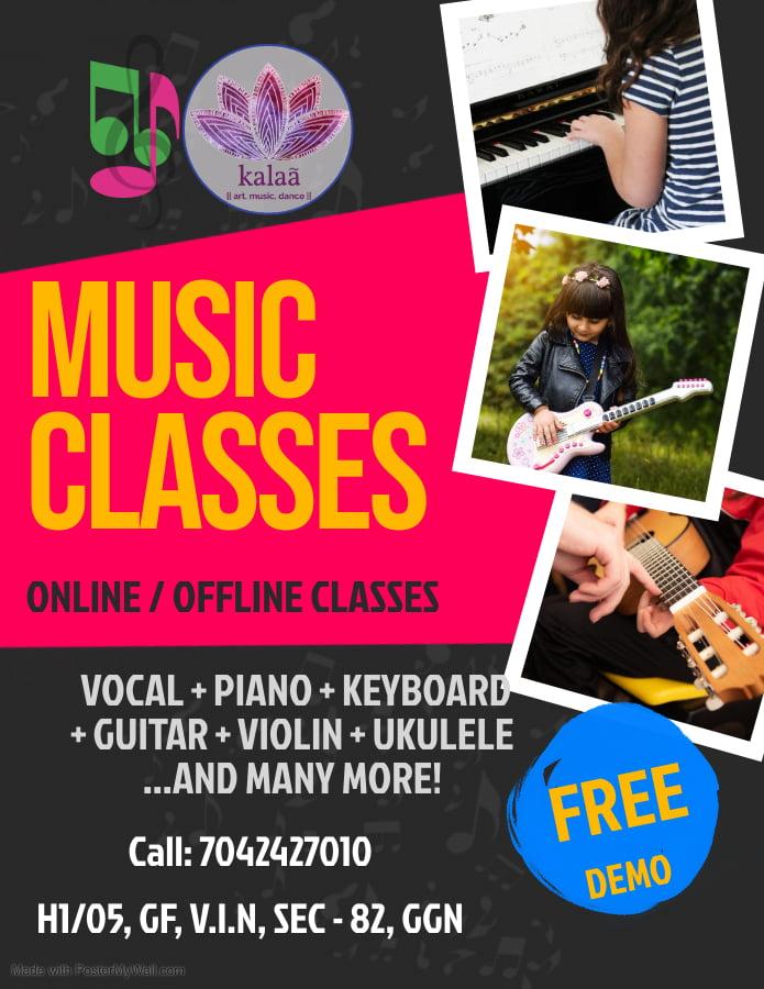 Music class at Kalaa sector 82 vatika Gurugram
