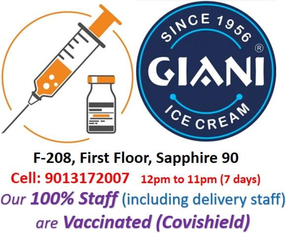 Staff Vaccinated for Giani ice cream Sapphire Ninety, Sector 90, Gurugram