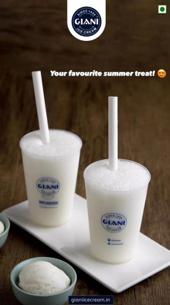 Giani Ice Cream Sapphire Ninety Vanilla Shake
