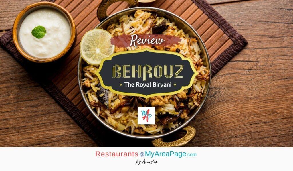 Behrouz Biryani Blog Banner