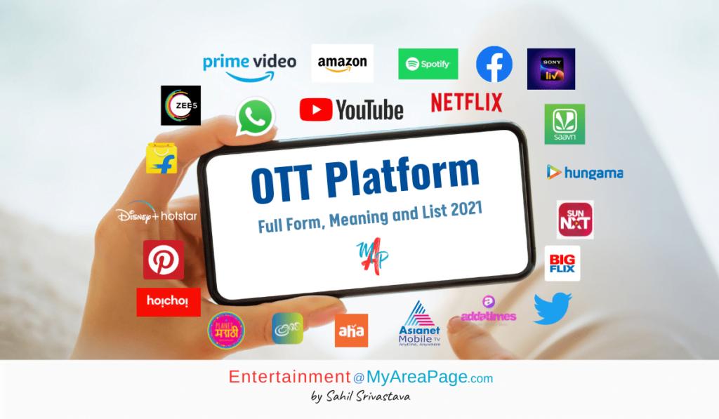 OTT Platform Full Form, Meaning and List